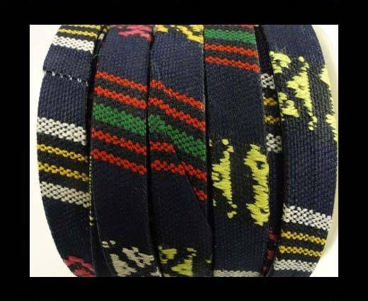 Flat multicolor Fabric cord-10mm-color5