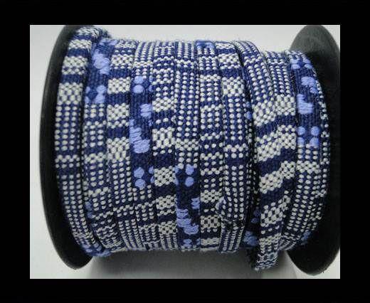 Flat multicolor Fabric cord-5mm-Color 7
