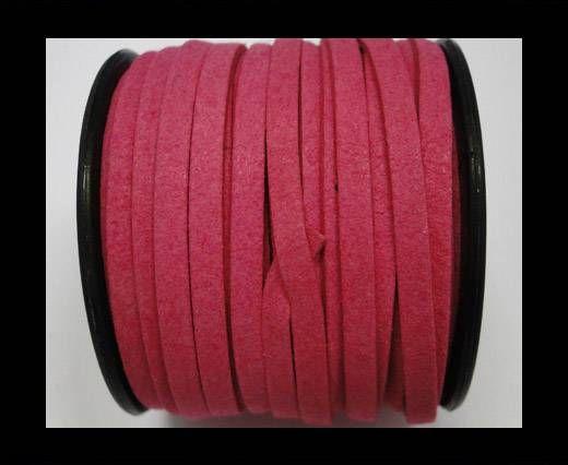 Flat Suede Cord - 5mm - Fuchsia