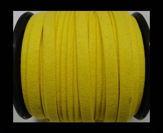 Flat Suede Cord - 5mm - Yellow