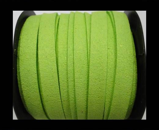 Flat Suede Cord - 10 mm - Neon Green