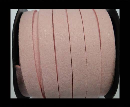 Flat Suede Cord - 10 mm - Pink