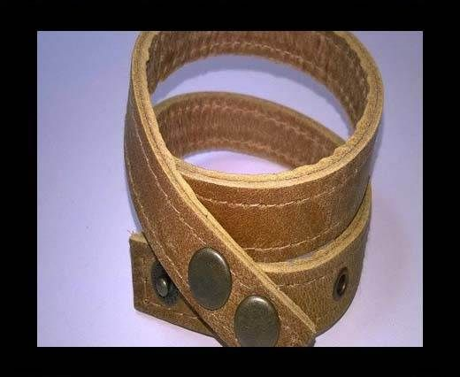 Full Real Leather bracelets - Yellow- 43cms