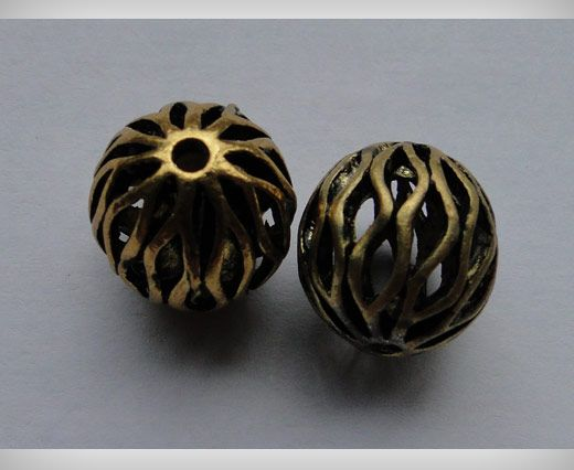 SE-1698-Gold Antique Large Sized Beads
