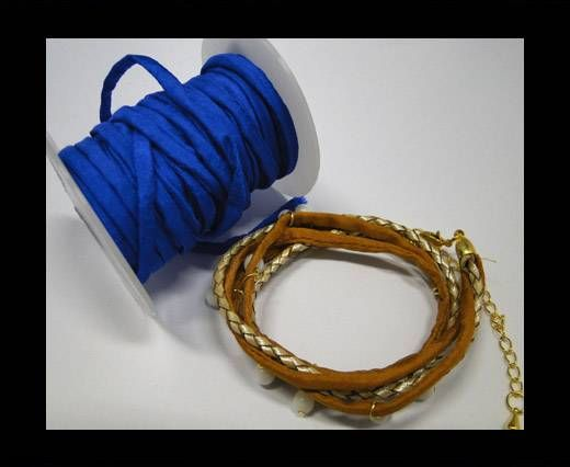 Habotai silk cords - Prussian blue