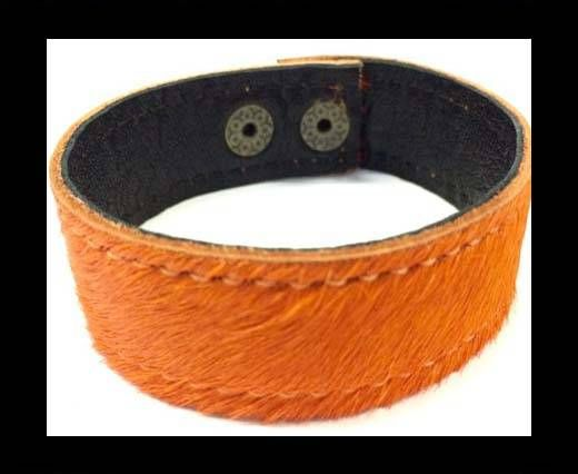 Hair-on bracelet-Orange-20mm
