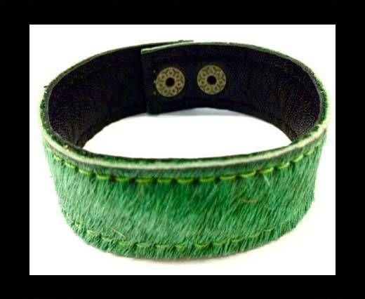 Hair-on bracelet-Green-20mm
