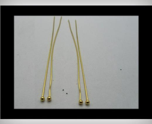 Head Pins FI7023-Gold-50mmx2mm