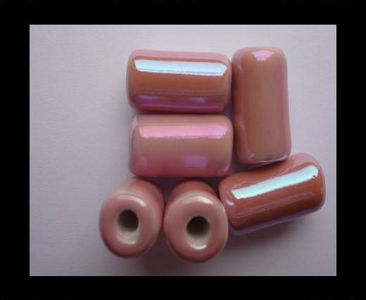 CB-Ceramic Flower-Hollow Tube-Pink AB