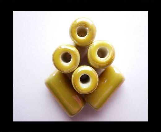 CB-Ceramic Flower-Hollow Tube-Yellow AB