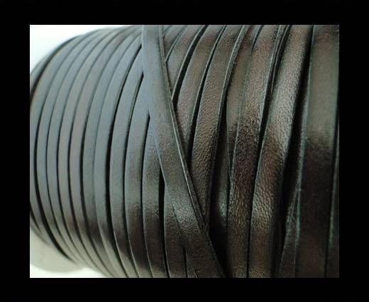 Flat Leather 5mm - Dark Brown