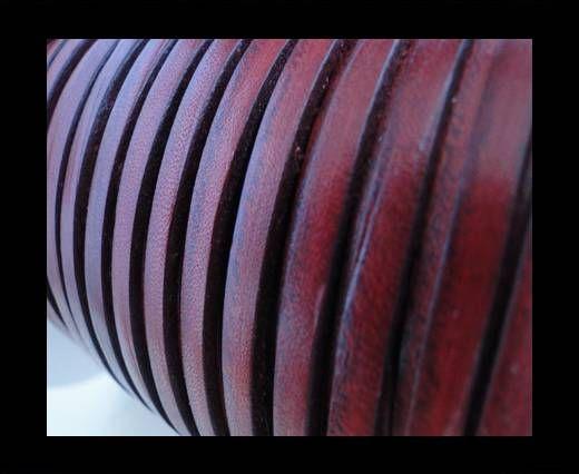 Flat Leather Italian 5mm - Mahogany