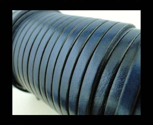 Flat Leather 5mm - Navy Blue