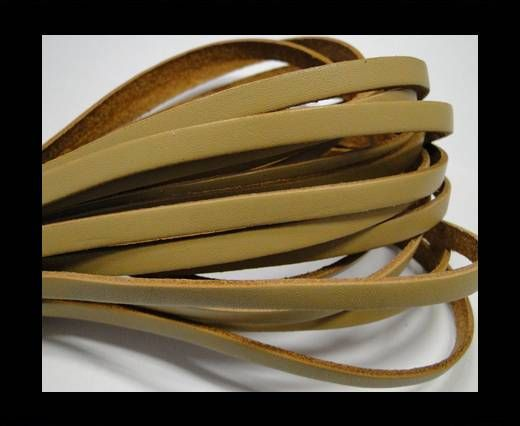 Flat leather - 5 mm - Natural edges - Cream