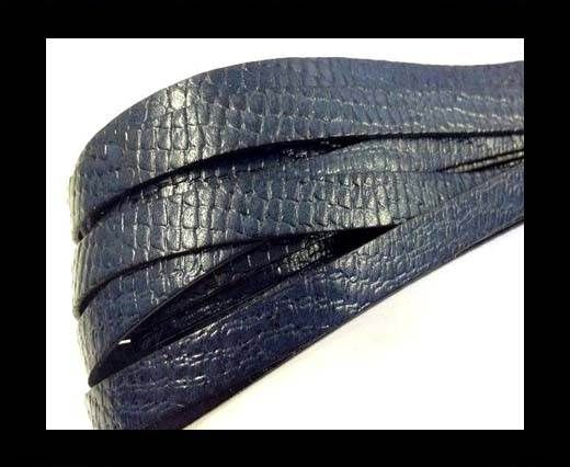 Italian leather 10mm Crocodile Style - Blu