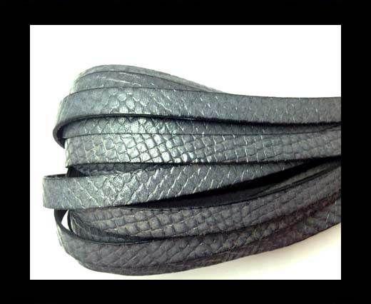 Italian leather 10mm Crocodile Style - Grey