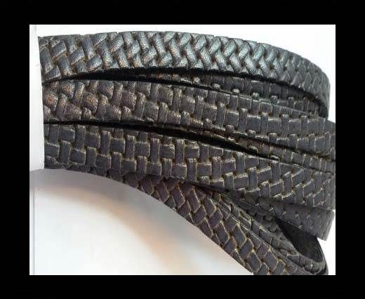 Design Embossed Leather Cord - 10mm - Style 1
