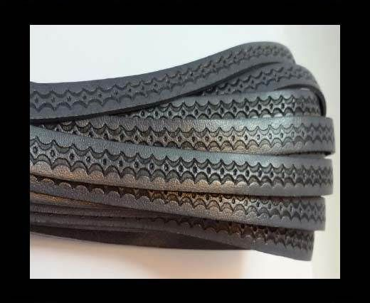 Design Embossed Leather Cord - 10mm - Style 8
