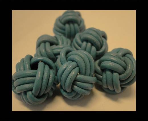 Leather Beads -12mm-Blue