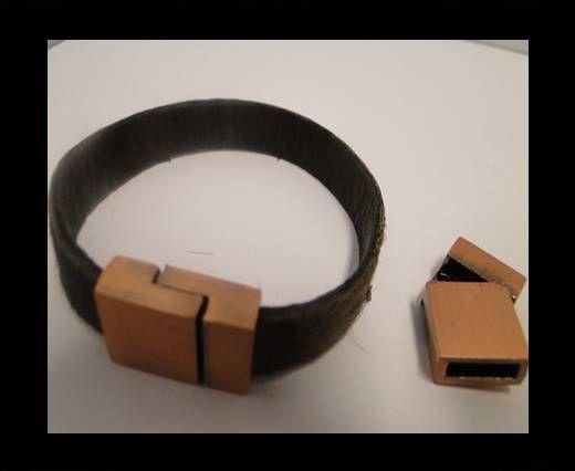 Locks for leather/Cords ZAML-07-Powdered Antique Copper