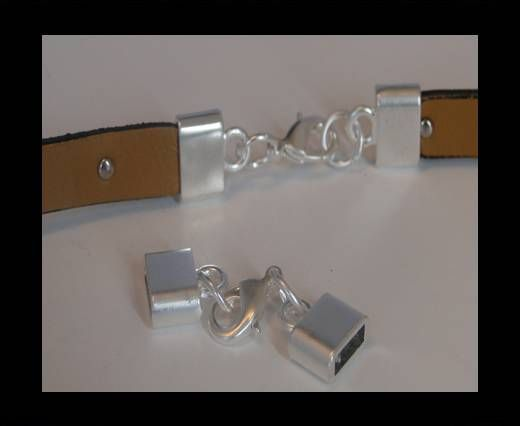 Locks for leather/Cords ZAML-03 - 10X3mm Steel Finish