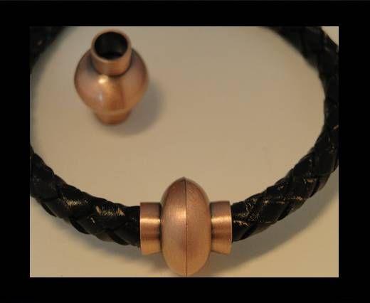 Zamak magnetic claps MGL-4-6mm-Powdered Antique Copper