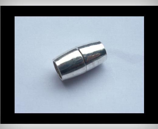 Magnetic Locks for leather Cords - MGL8-6mm-Silver