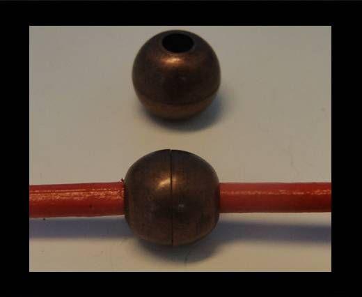 Zamak magnetic claps MGL-05-6mm- Y Copper