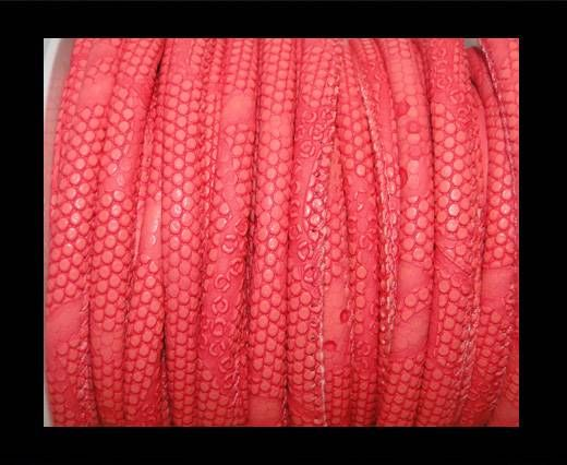 Eco-Nappa 4mm Snake-Dotted-Style-Dark Pink