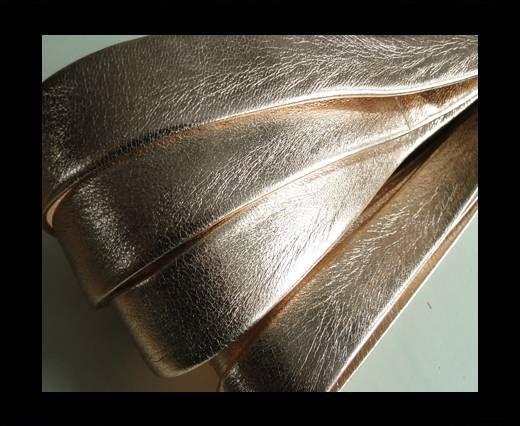 Nappa Leather Flat-Metallic Rose Gold-20mm