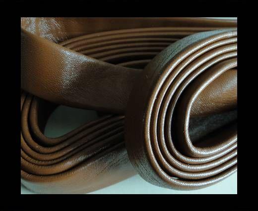 Nappa Leather Flat-Saddle Brown-20mm