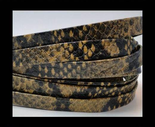 Nappa Leather Flat- python senape 10mm