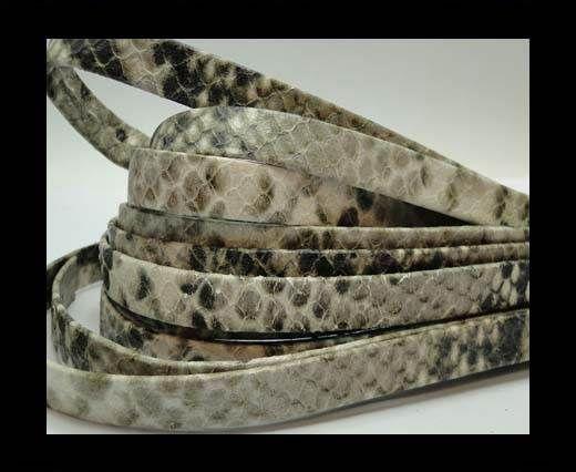 Nappa Leather Flat -10mm-Python Beige