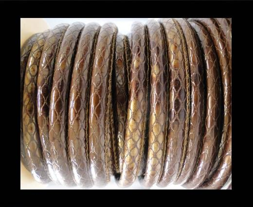 Eco-Nappa 4mm Snake-Style -Oblong Coffee