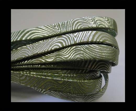 NappaFlat-10mm-snake style green