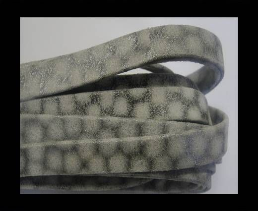 NappaFlat-Snake Style-10mm-white-silver