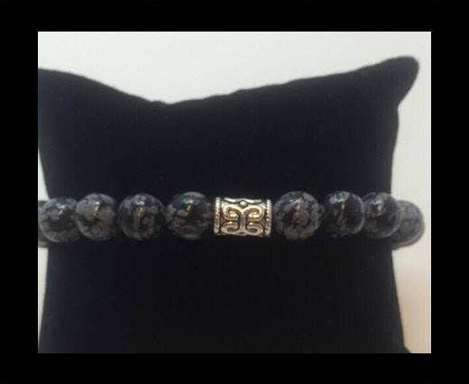 Natural Stone Bracelet 7 Snowflake