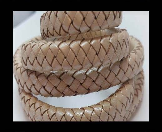 Oval Braided Leather Cord - SE 202