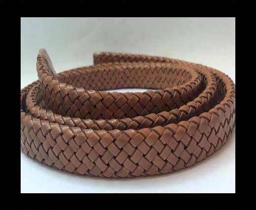 Oval Braided Leather Cord - SE.PB.04
