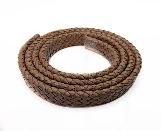 Oval Braided Leather Cord-19*5mm-SE-DB-D03
