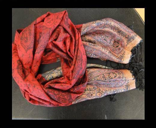 Pashmina Shawl-Style2-Red