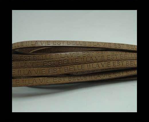 Real Flat Leather-LA VIE EST BELLE-Beige