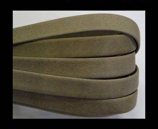 Real napa 10 mm Flat - Plain style Olive yellow