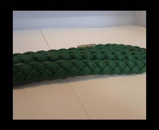 Real Nappa Leather -Flat-Braided-Fern-10mm
