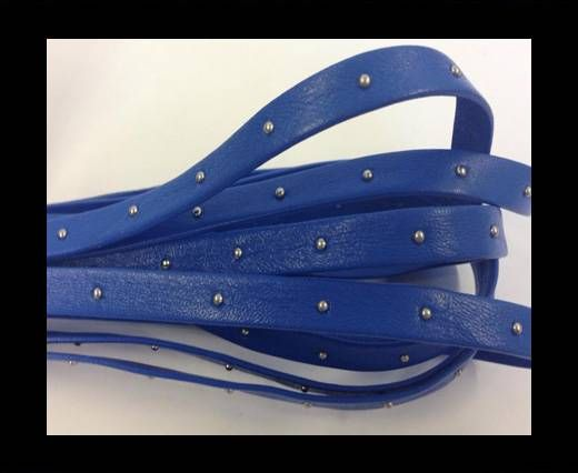 Real Nappa Leather with studs - 10mm - Pastel Blue