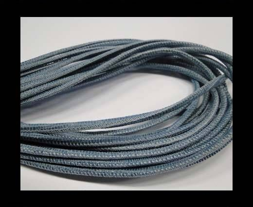 Real Nappa Leather Round-2.5MM-Lizard style-Blue