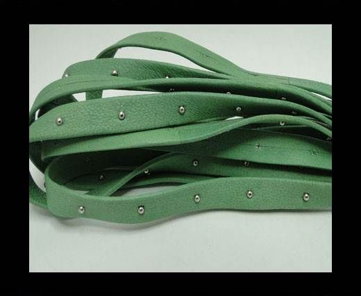 Real Nappa Leather with studs - 10mm - Mint