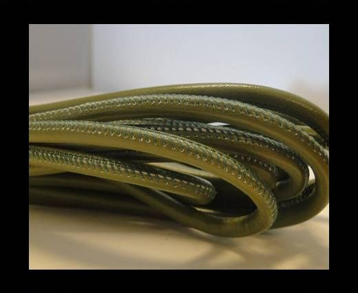 Real Nappa Round-Dark Green-6mm