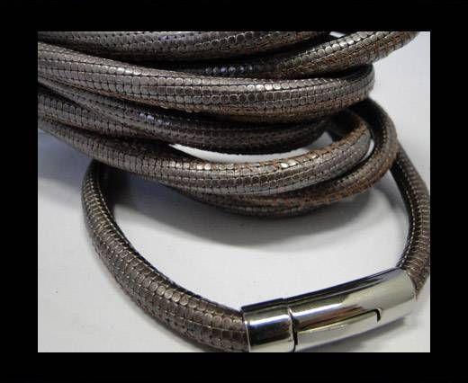 Real Nappa Round-Snake Skin Light Lila-6mm