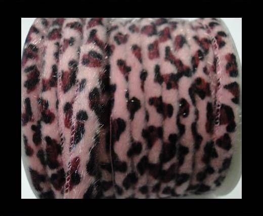 Eco-Nappa 6mm Snake-Style-Fur Cords - Pink